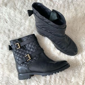Kate Spade Samara Moto Quilted Leather Ankle Boots
